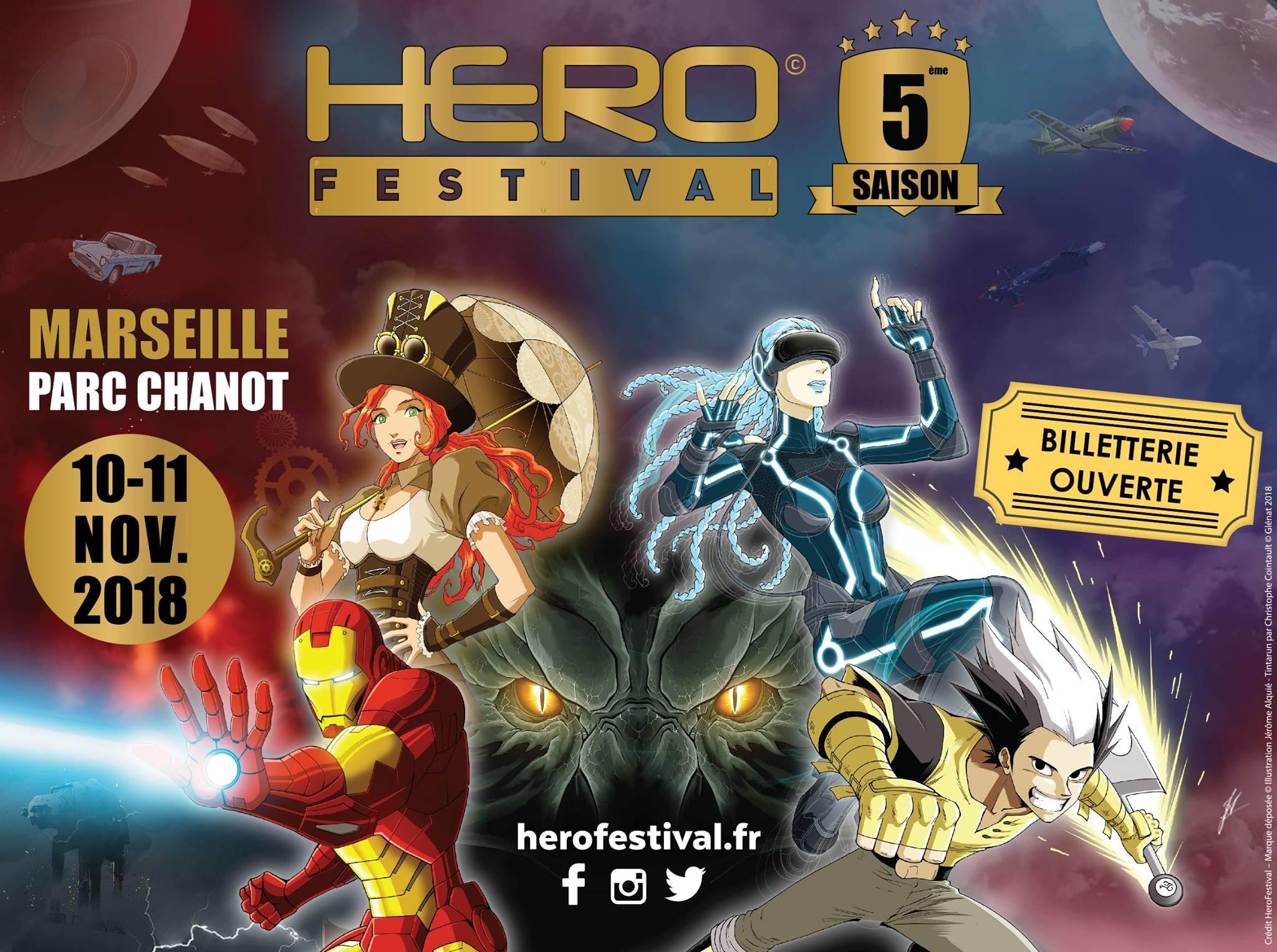 5e Hero Festival à Marseille (Les 10 et 11 novembre 2018)