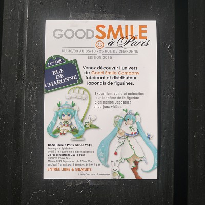 Un passage rapide à la boutique éphémère 2015 de Good Smile Company à Paris